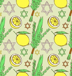 Sketch Sukkot pattern vector image