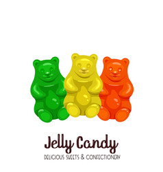Sweet marmalade teddy bears vector