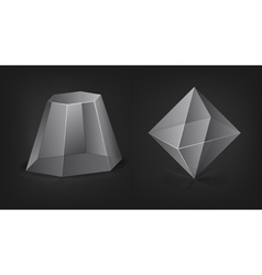 Transparent figures vector