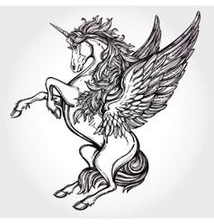 Vintage style unicorn vector