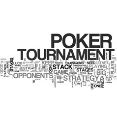 win big with a poker tournament strategy text vector image vector image