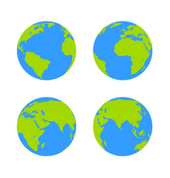 Globe icon earth symbol vector