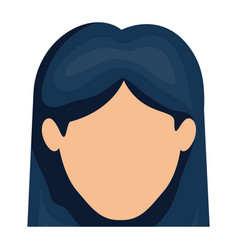 white background of faceless woman with straight vector image