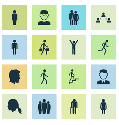Person icons set collection of grandpa beloveds vector