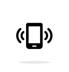 Mobile phone bell icon on white background vector