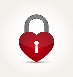 Love heart lock security concept vector
