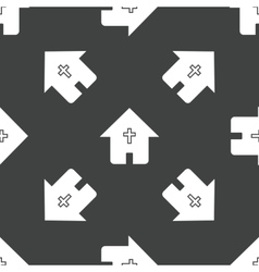 House with cross pattern vector