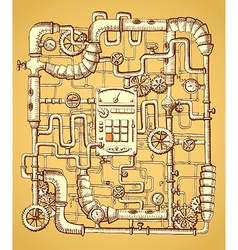 Print on steampunk vector