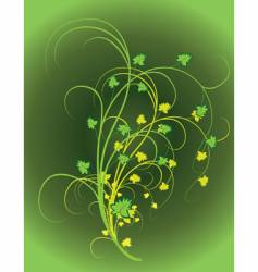 the background of green leaves vector image