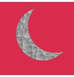 Abstract gray moon on a pink background vector