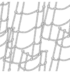 Nautical ship ropes seamless pattern vector