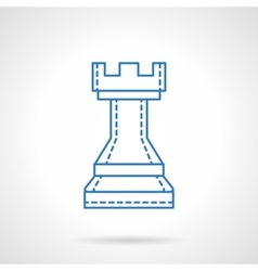 Chess blue flat line icon vector