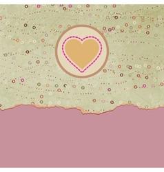 Vintage valentines hearts card vector