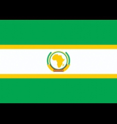 African union flag vector