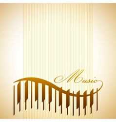 abstract background with piano vector image