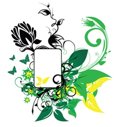 abstract spring floral frame vector image