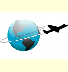 airline travel vector image vector image