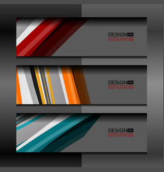 Banner modern template background vector