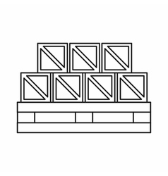 Boxes goods icon outline style vector image