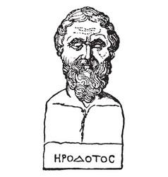 Bust of herodotus vintage vector