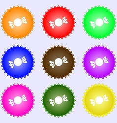 Candy icon sign big set of colorful diverse vector
