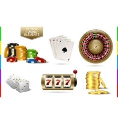 Casino golden icon isolated on white background vector