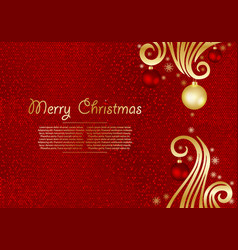 Christmas background with fir branches and gold vector
