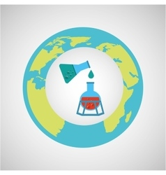 Concept science lab experiment icon graphic vector
