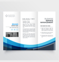 Creative trifold brochure design for your business vector