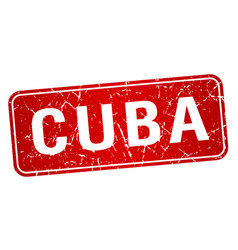 Cuba red stamp isolated on white background vector