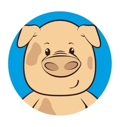 Cute animal tender character vector