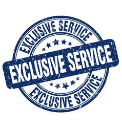 Exclusive service stamp vector