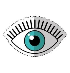 Eye human sign isolated icon vector
