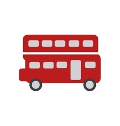 Flat icon on white background double decker bus vector