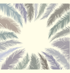 floral tropical holiday greeting background palm vector image