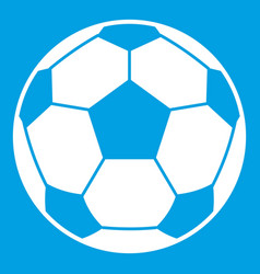 Football soccer ball icon white vector