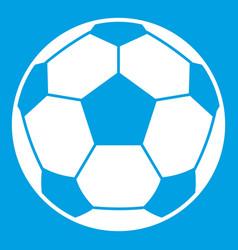 Football soccer ball icon white vector