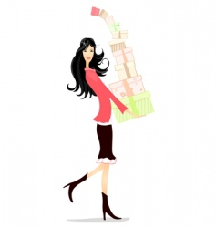 girl gifts vector image vector image