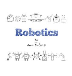 Hand drawn future technology elements set vector