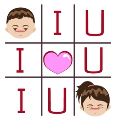 I love you boy and girl vector