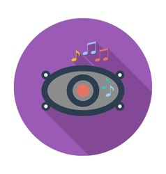 Icon of car speakers vector image