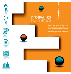 infographic icons and sphere vector image vector image