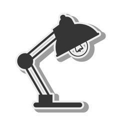 lamp desk light bulb design vector image