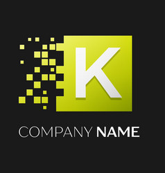 letter k logo symbol in the colorful square vector image vector image