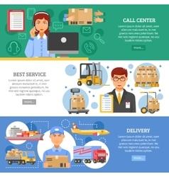 Logistics delivery banner set vector