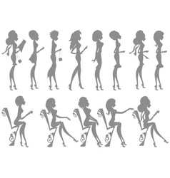 Miss boo silhouettes vector