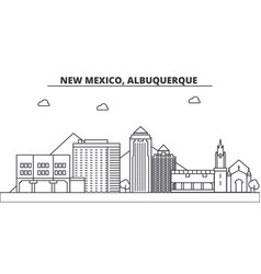 New mexico albuquerque architecture line skyline vector