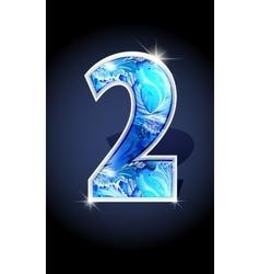 Number blue shine design vector