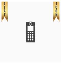 Retro mobile phone icon vector