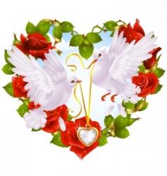 rose garland vector image